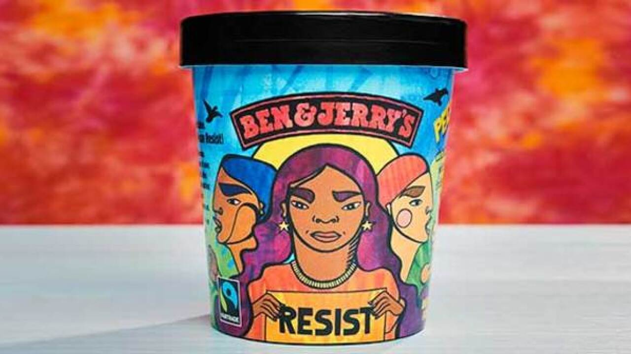 Ben & Jerry's unveils Pecan Resist flavor that contains anti-Trump messaging under lid