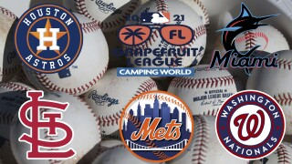 2021 Grapefruit League Palm Beach County and Treasure Coast MLB team logos