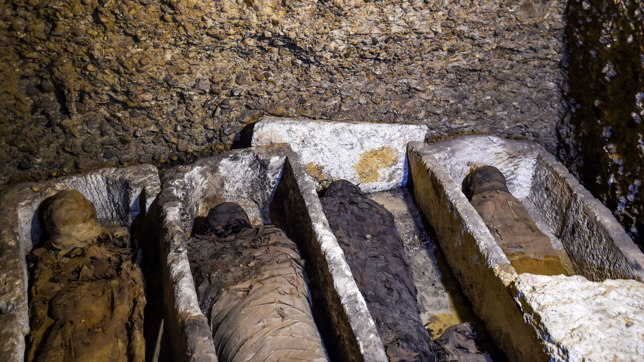 More than 40 mummies discovered at Egypt burial site