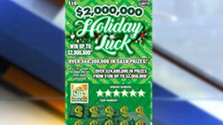 Florida Lottery Holiday Luck Scratch-Off Ticket