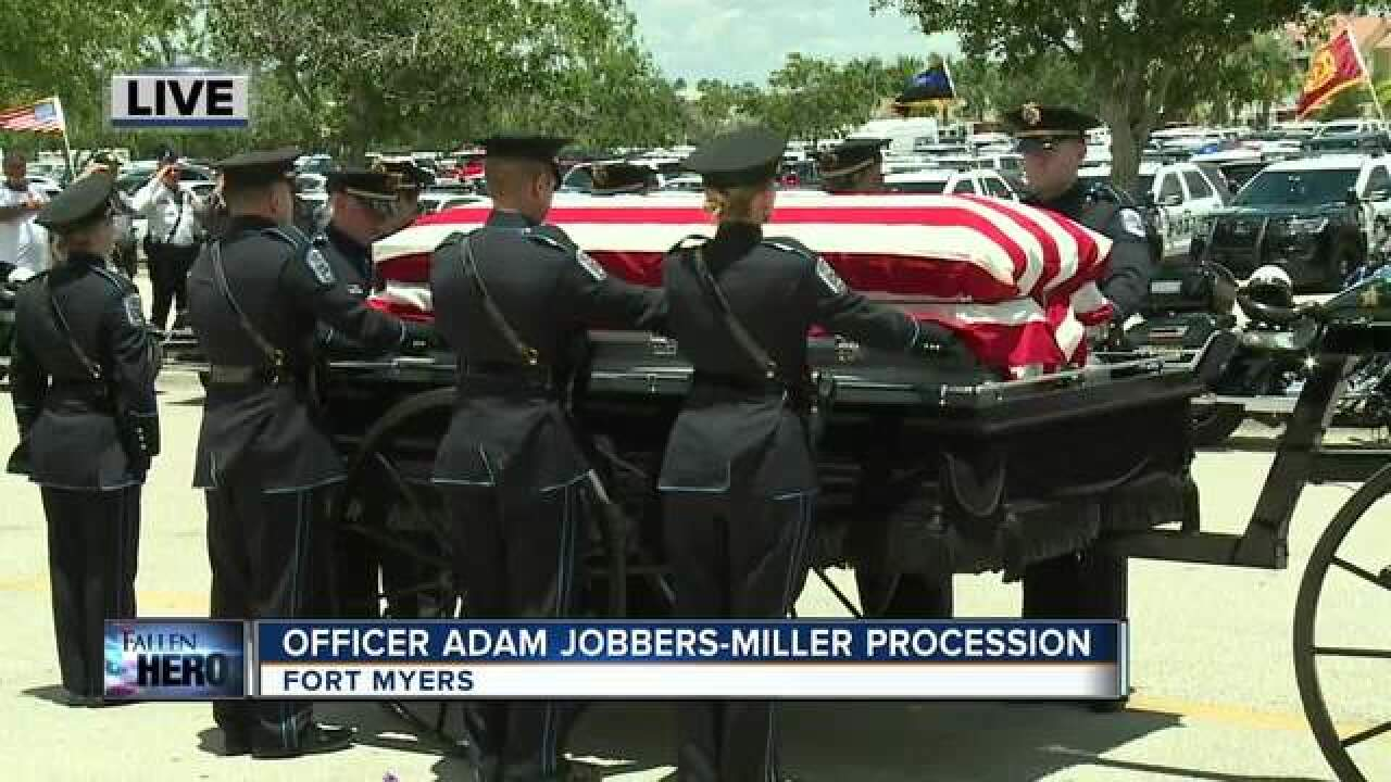 Funeral held for fallen Fort Myers officer