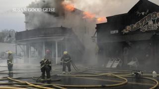 Fire engulfs Bunkhouse Inn