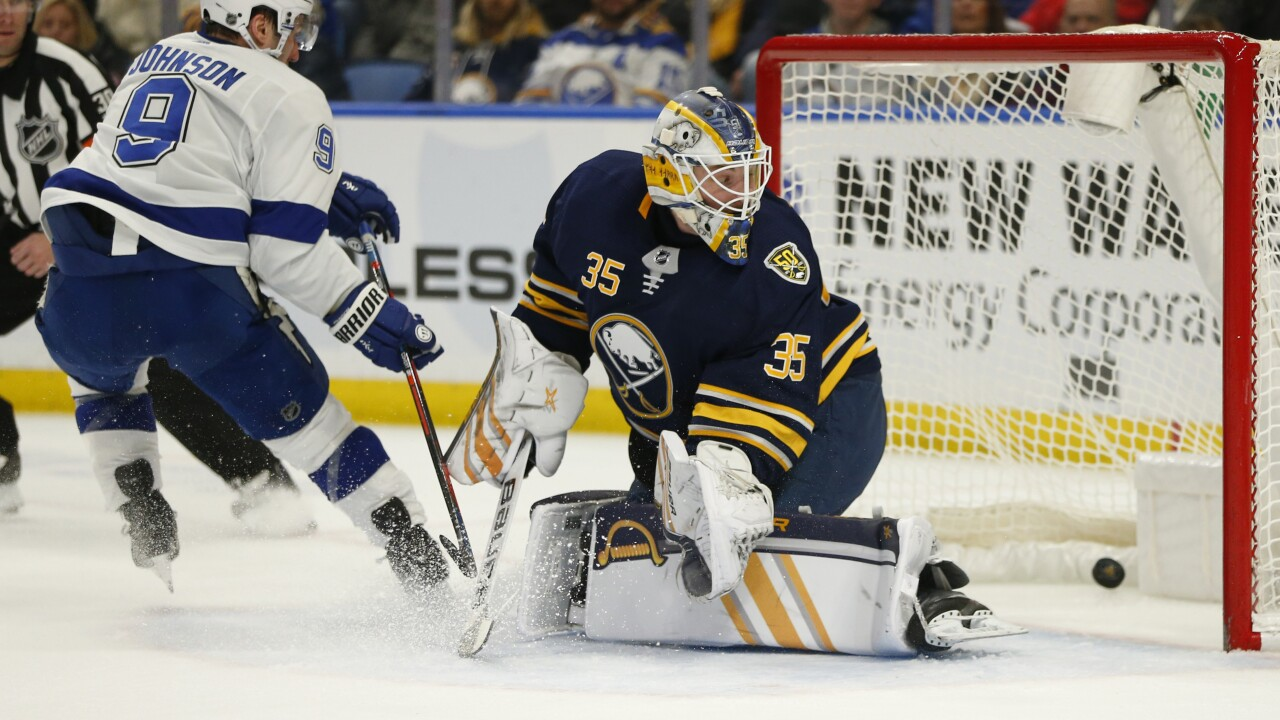 Sabres fall 6-4 to Lightning after blowing three-goal lead