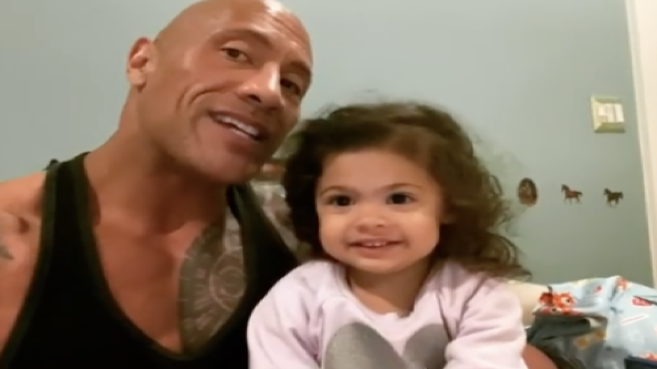 Dwayne Johnson Sings 'You're Welcome' To His Daughter At Bedtime—and He Shared An Adorable Video Of Their Routine
