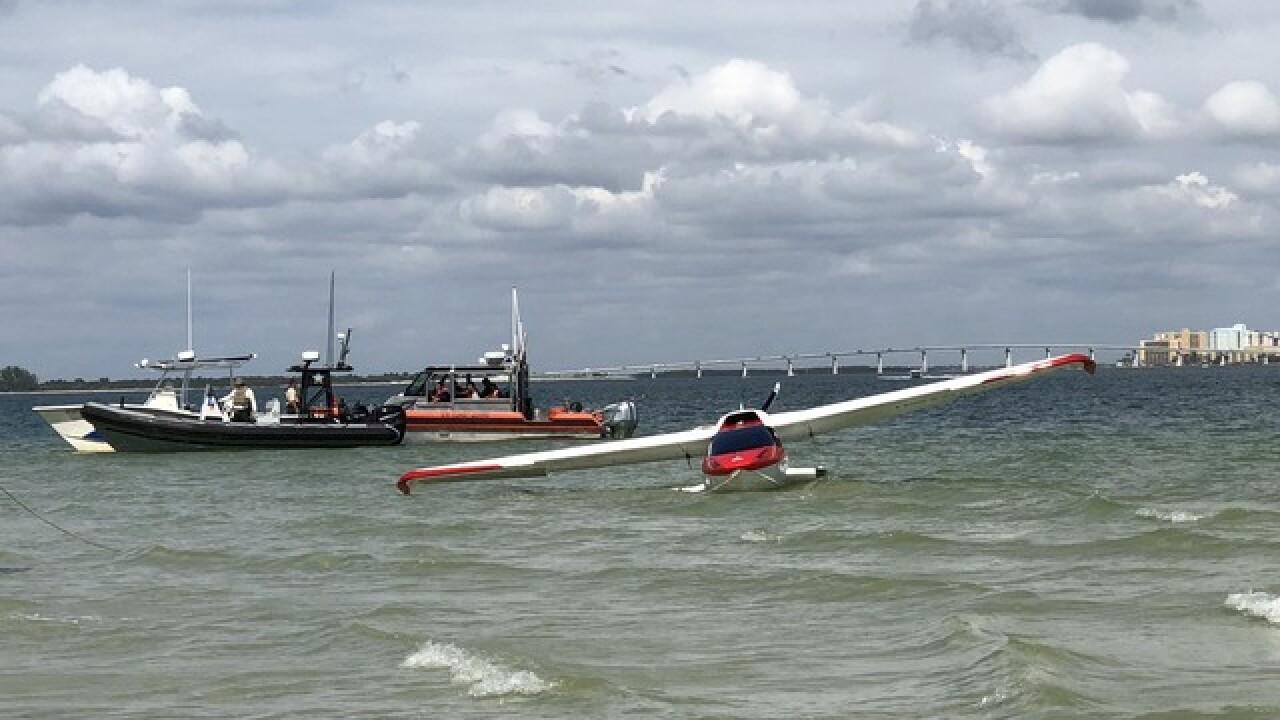Small plane lands in water off Sanibel Island