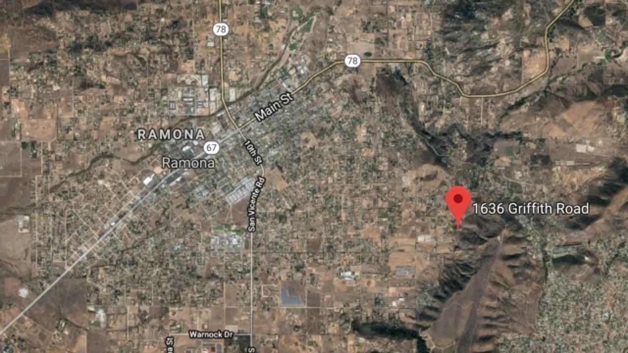 Cal Fire battles brush fire in Ramona
