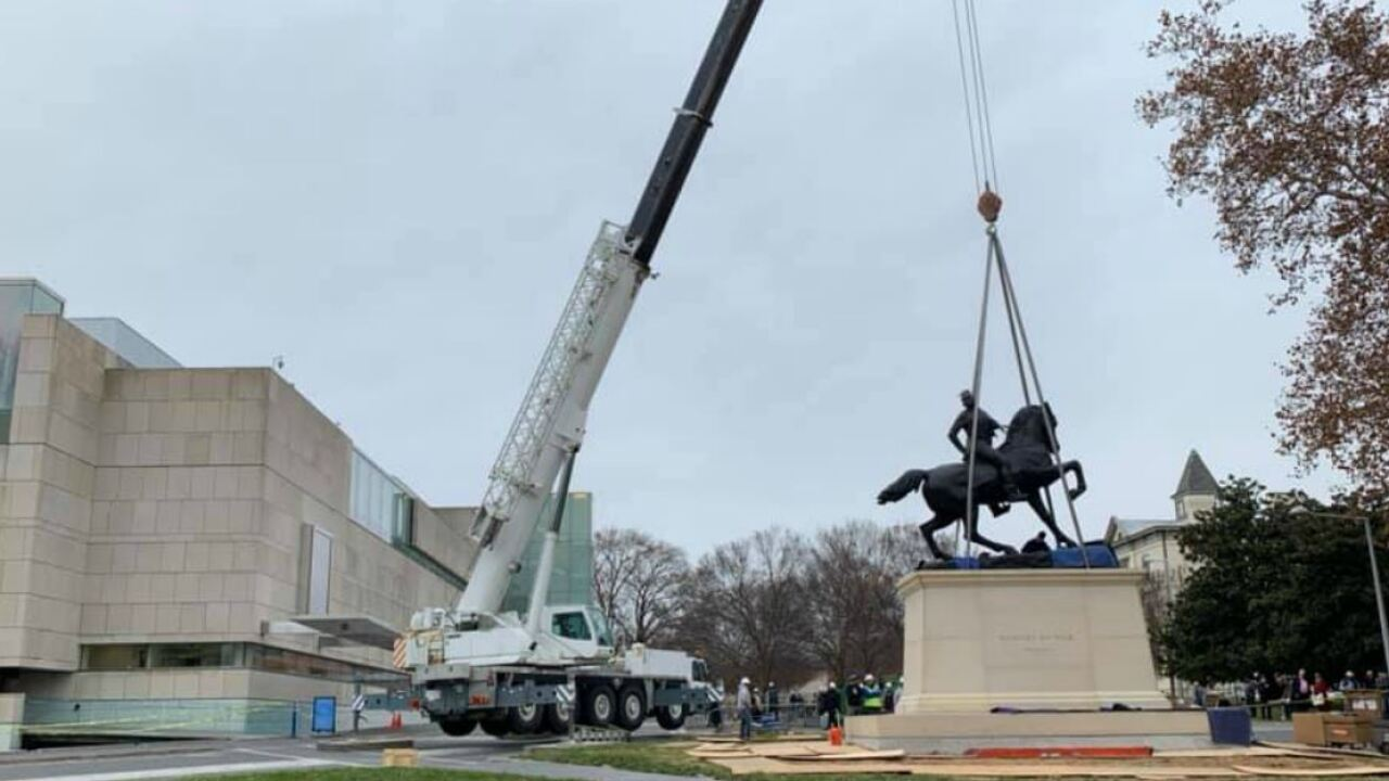 'Rumors of War' installed outside Virginia Museum of Fine Arts