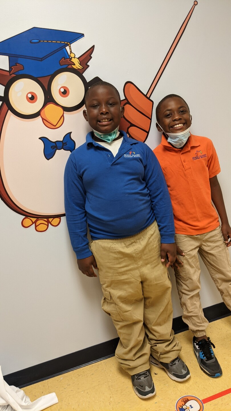 Kymere and Kyshon are two students getting weekend meals through FeedMore's Backpack Program