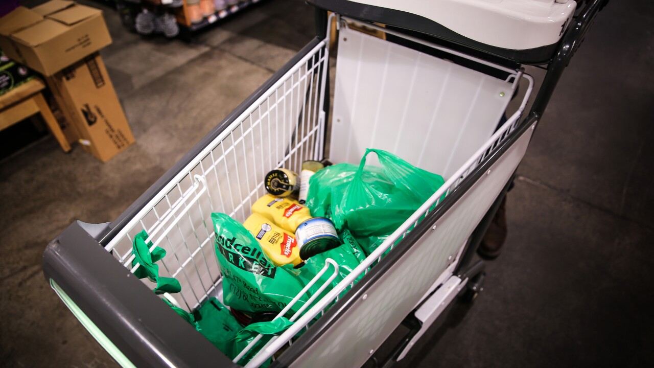 Skip the grocery store line with these smart shopping carts
