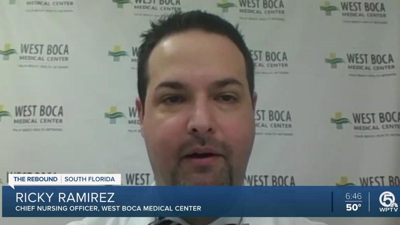 Rick Ramirez, chief nursing officer at West Boca Medical Center
