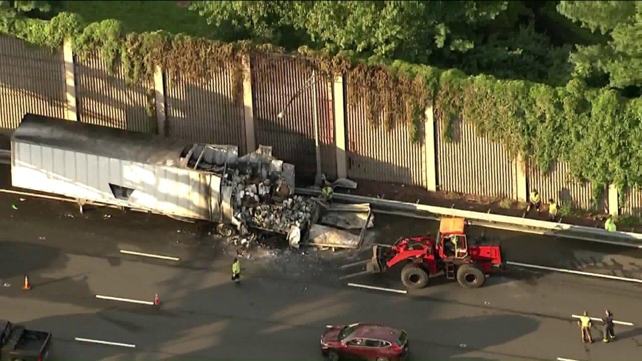Fiery crash on I-78 in Union, New Jersey, leaves one dead