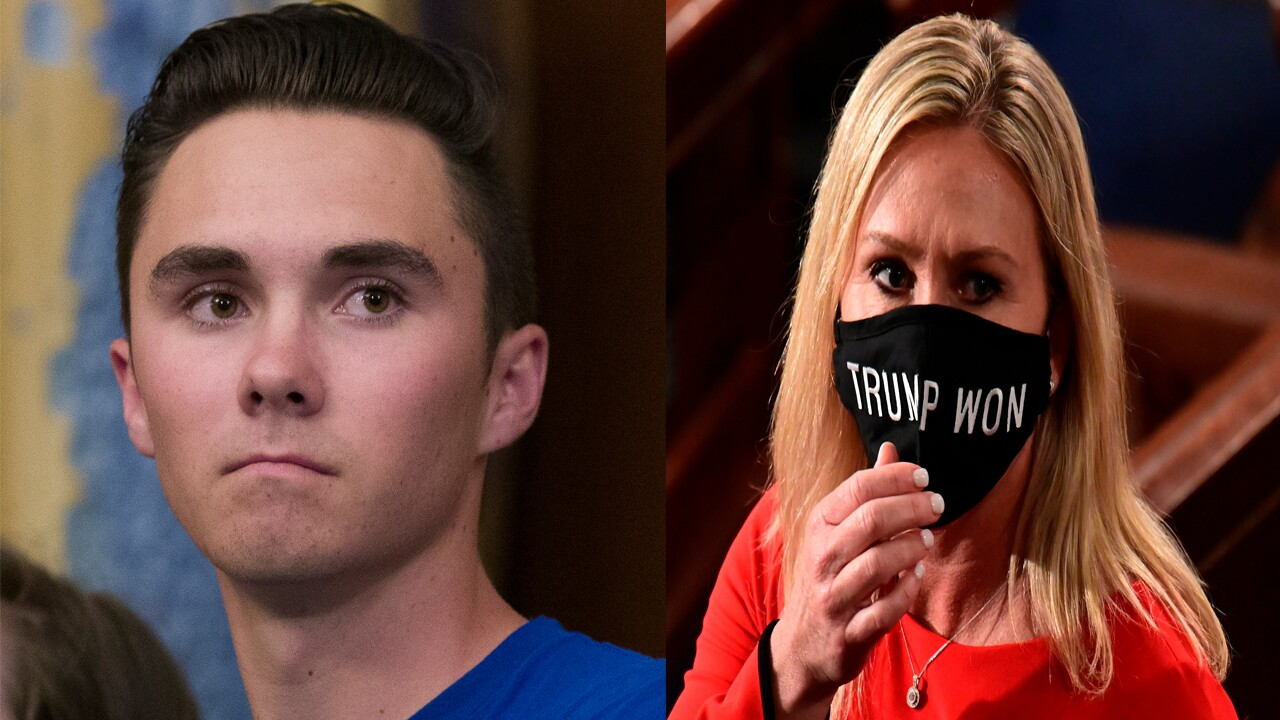 David Hogg and Marjorie Taylor Greene