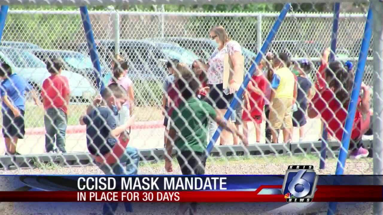 30-day facemask order started Thursday for CCISD