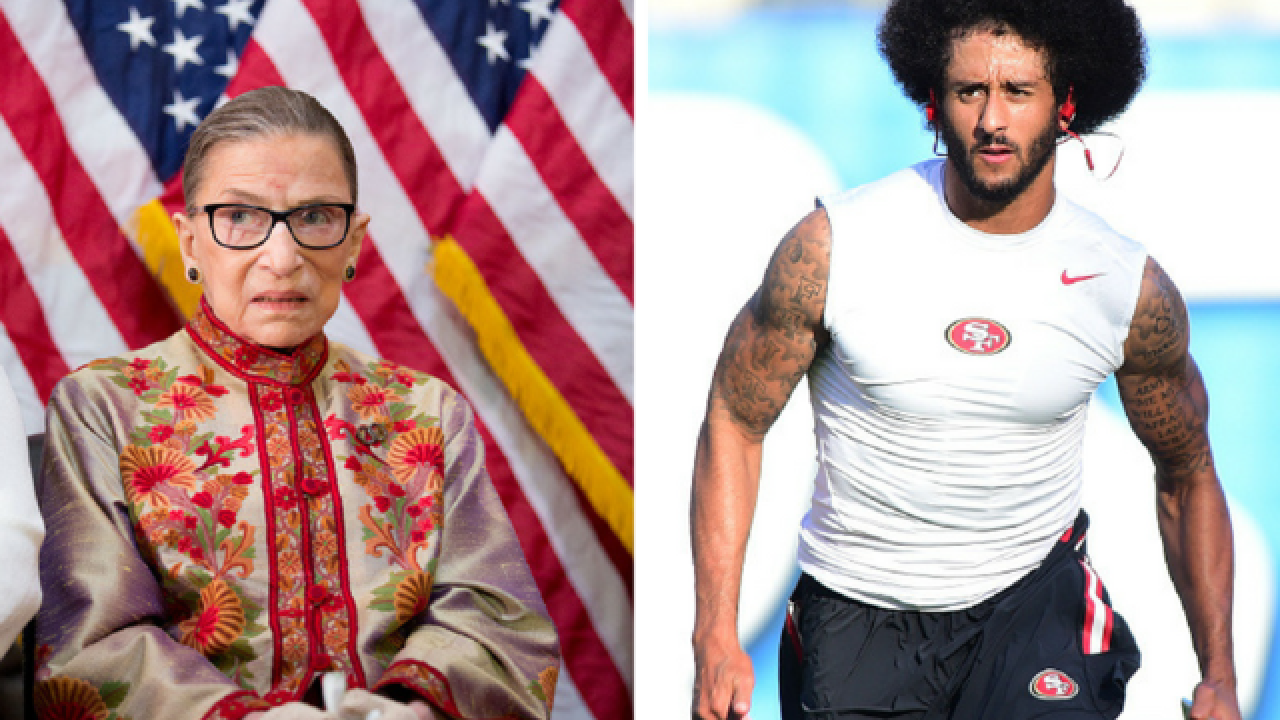 Ruth Bader Ginsburg walks back her criticism of Colin Kaepernick