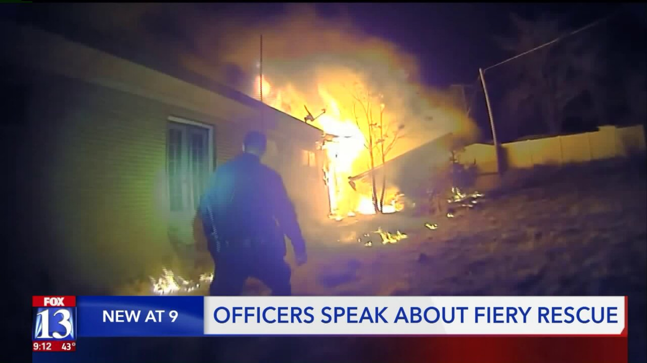 Officers tell their story of rescuing residents from burning home in Roy