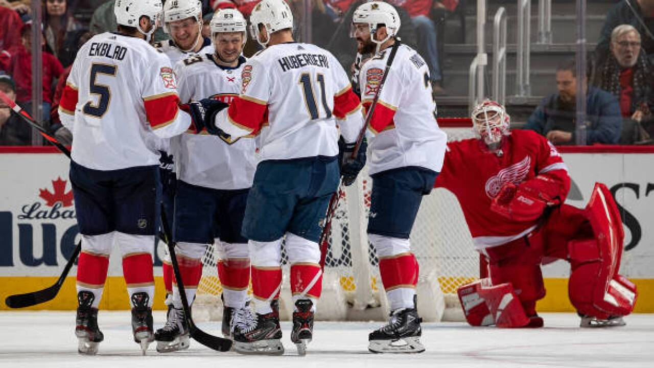 Panthers beat Red Wings for season-high four-game streak
