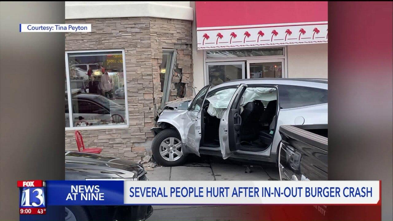 Driver hits pedestrian, crashes into restaurant near St.George