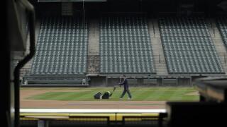 APTOPIX Virus Outbreak MLB Empty Ballparks Baseball