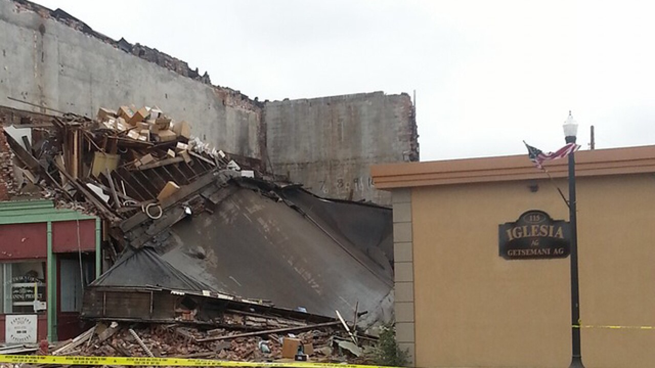 Building with apartments partially collapses