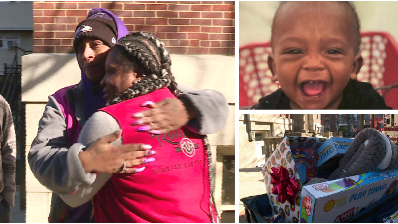 Mom who lost her daughter to violence delivers toys for 2-year-old shooting victim