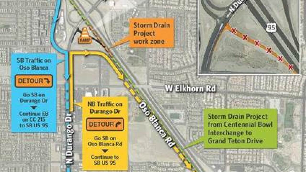 Traffic Map 95.Durango Drive On Ramp To Southbound U S 95 Closed Through June 25