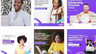 A screenshot of the Scholarship Afric ad sets featuring articles and tips when it comes to applying for jobs.