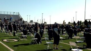 Collegiate ISD graduates take a knee during national anthem