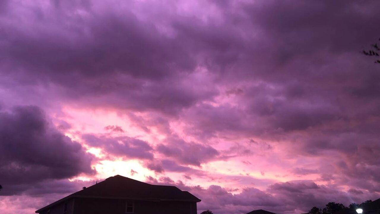 Hurricane Dorian turns Florida skies stunning shades of purple
