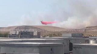 UPDATE: Fire near Santa Maria riverbed contained at 95 acres