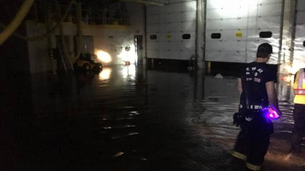 Green Bay Metro Fire Department Station 5 flooded