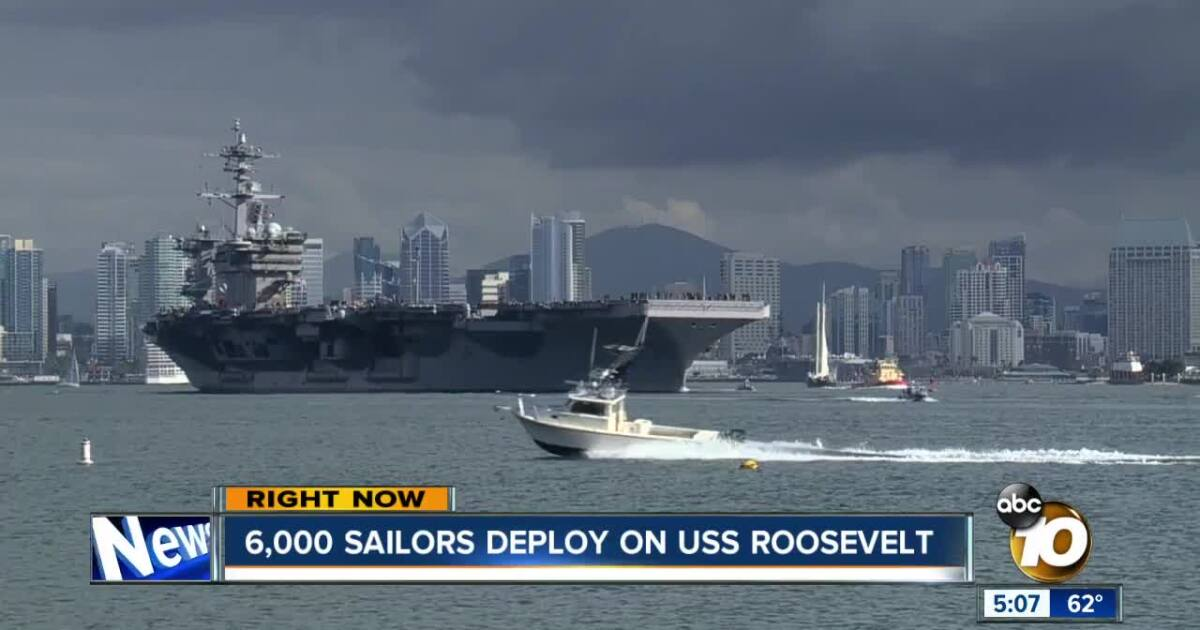 Thousands of sailors leave for 7-month deployment