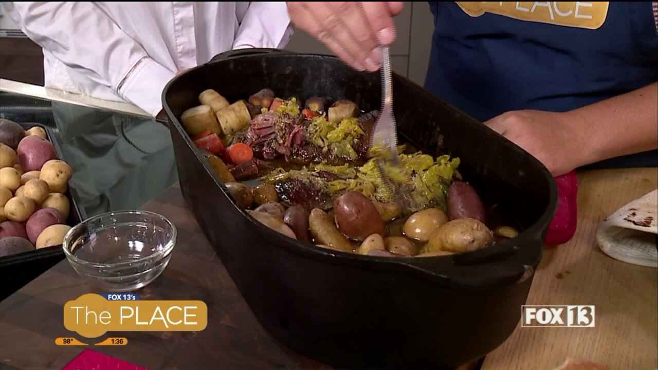 A clever way to use Ranch seasoning to make a Dutch OvenRoast