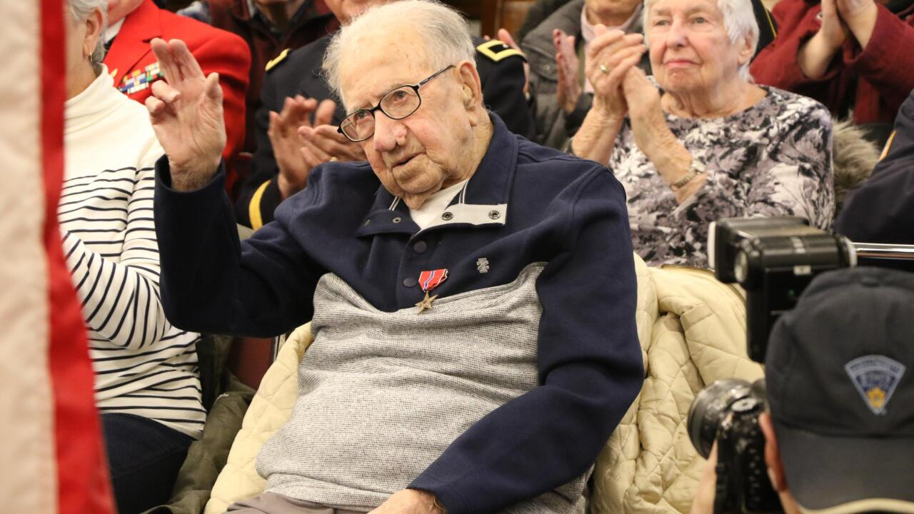 A 103-year-old World War II veteran finally gets his combat medals, 75 years later