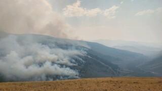 Little change seen as crews battle Bear Creek fire