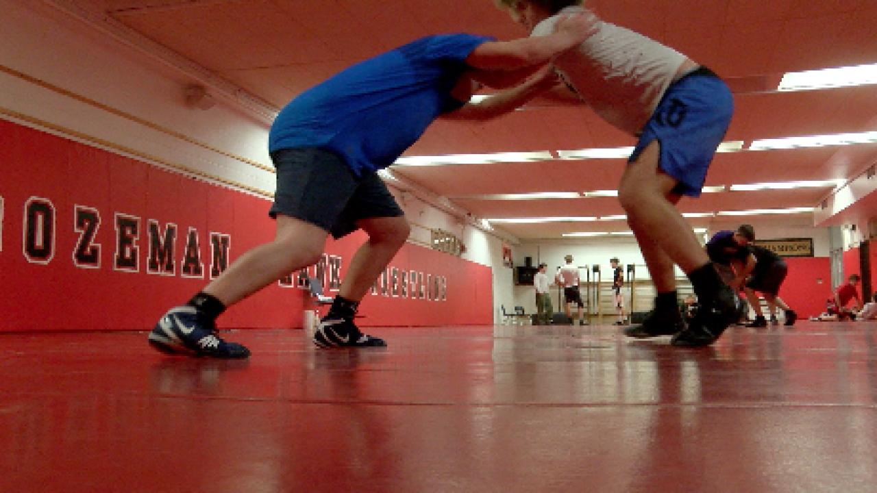 Wrestlers at Bozeman High School hit the mats to kickstart their winter season