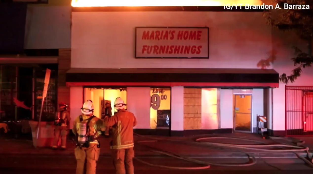 Maria's Home Furnishings Fire, July 8, 2021