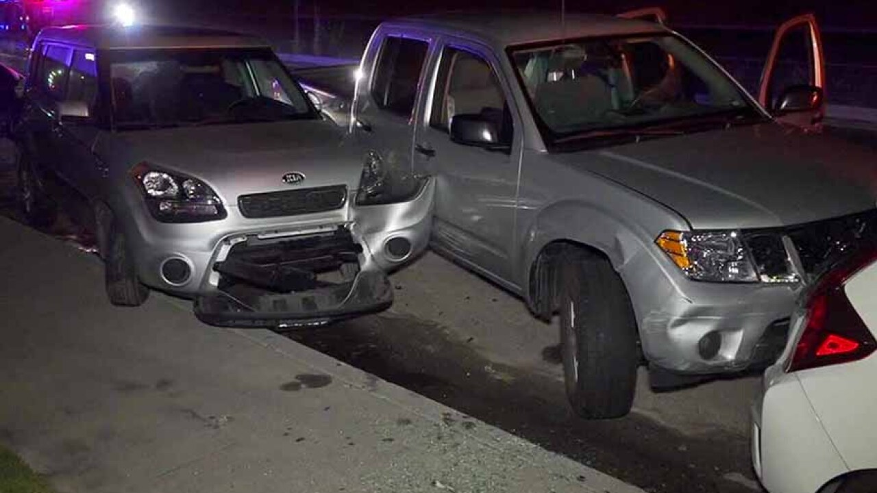 Driver found passed out behind wheel after truck crashes