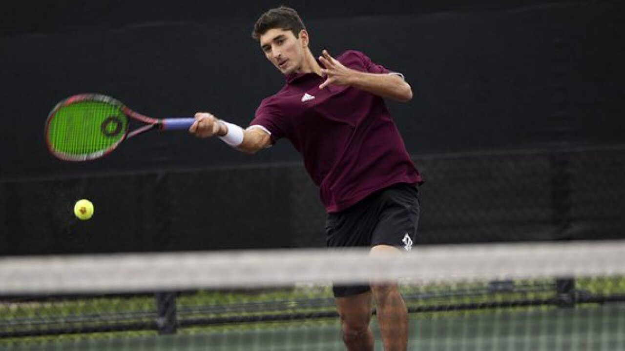 TEXAS A&M MEN'S TENNIS AGUILAR AND HABIB GOING TO NCAA SINGLES.jpg