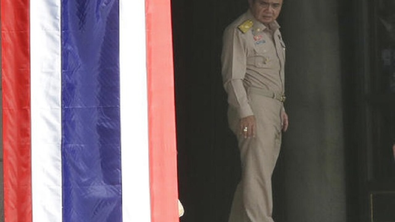 Thailand's junta leader says elections in November