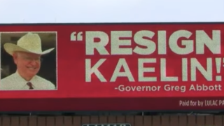 Billboard targets Kaelin, asking him to step down