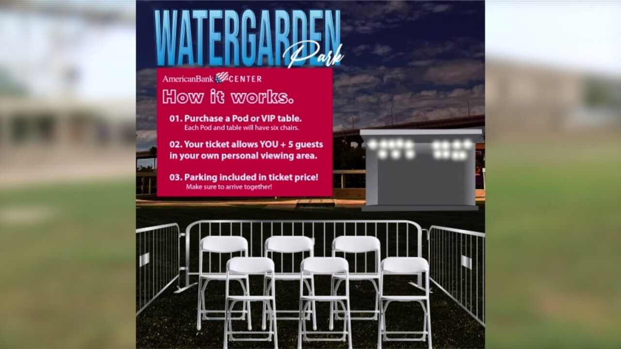 Local shows scheduled at Watergarden Park using socially distant pods