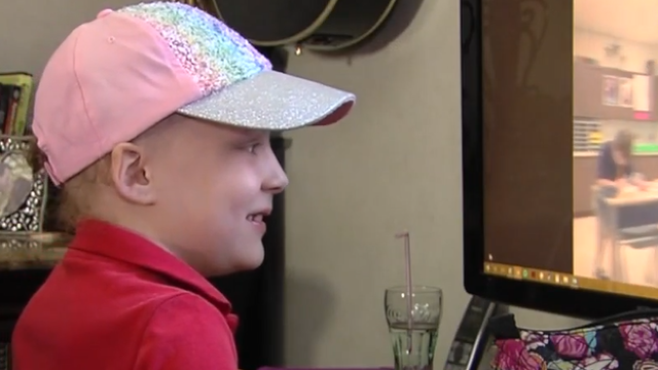 Robot helps PBG girl battling cancer to attend school again
