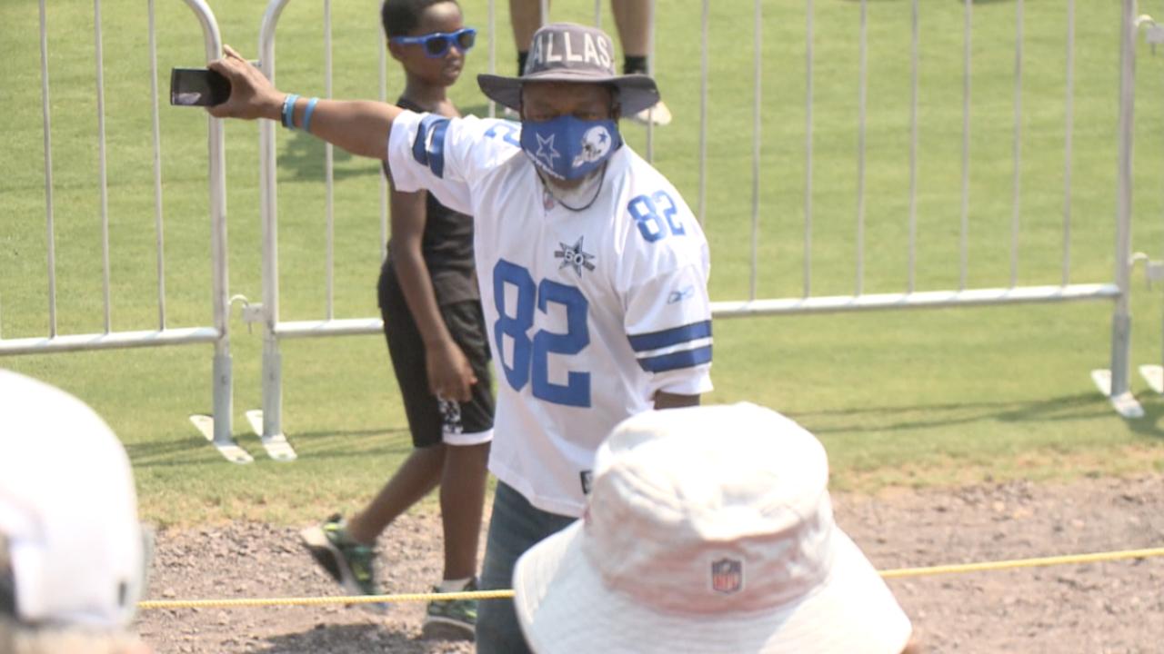 Dallas Cowboys fan at Washington training camp