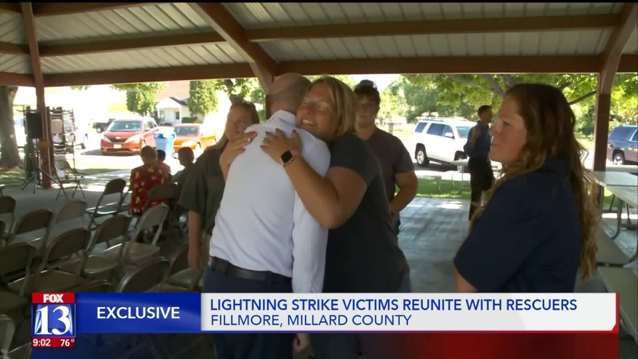 Utah dad and daughter meet first responders who saved them after lightning strike