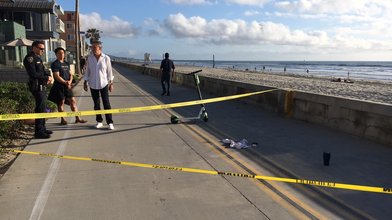 Mission Beach scooter crash