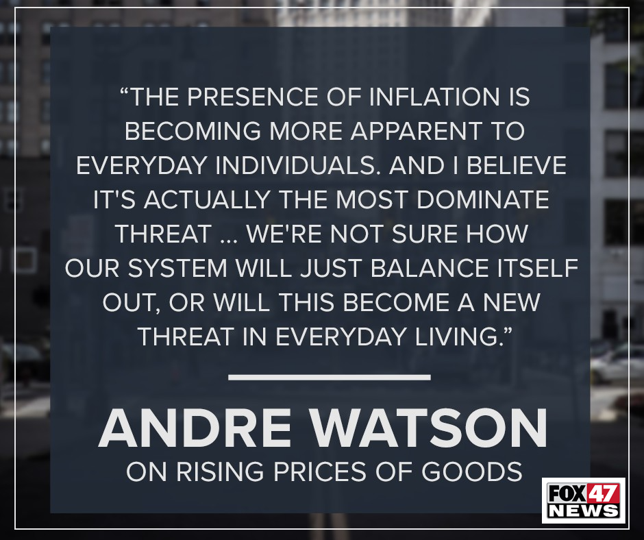Andre Watson on the rising prices of goods