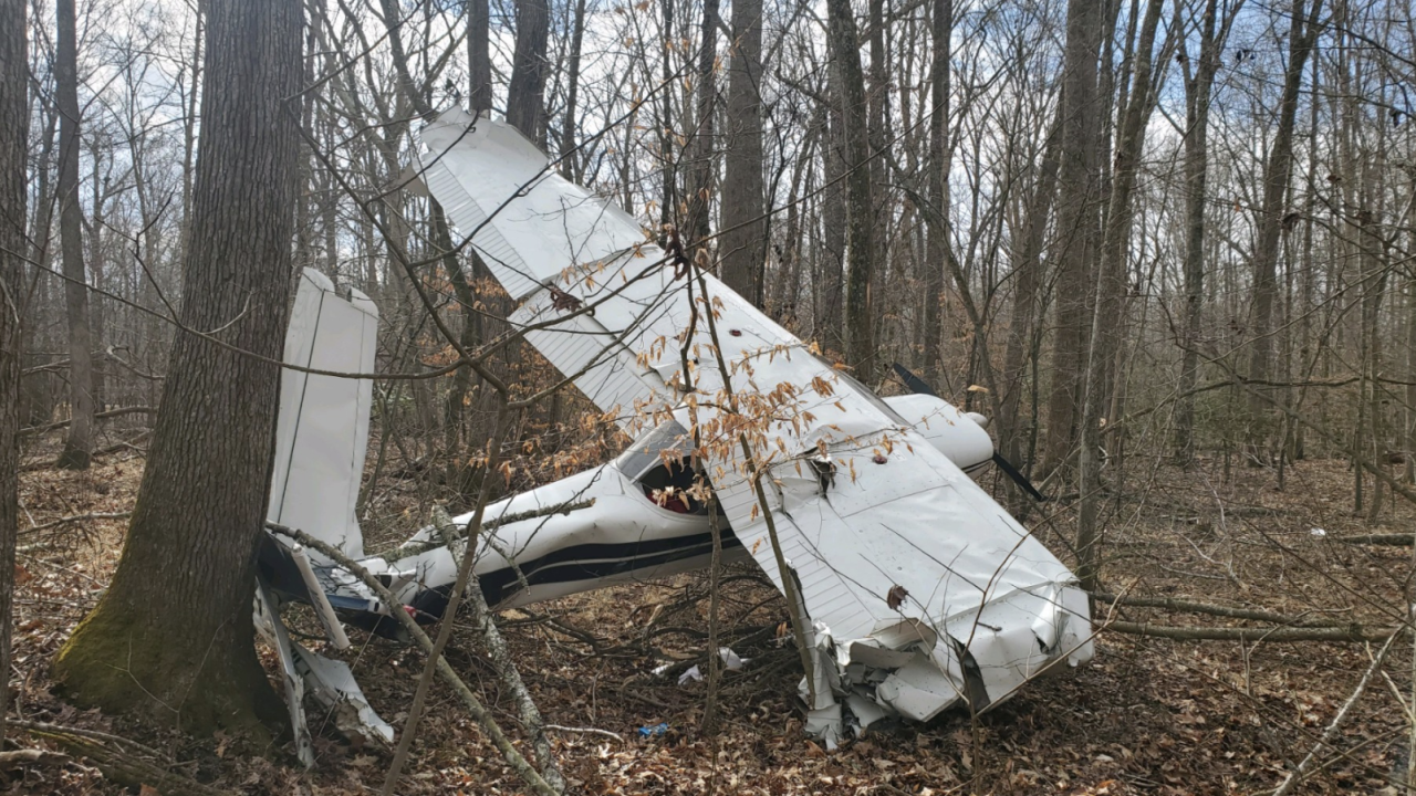A small plane carrying two people crashed in Charles County Wednesday morning