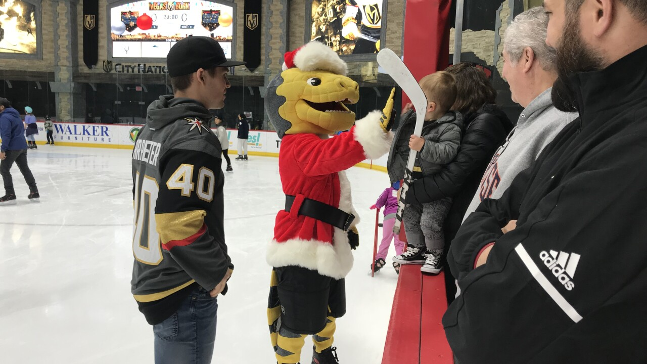 Vegas Golden Knights build 'Winter Wonderland' for CASA Foundation