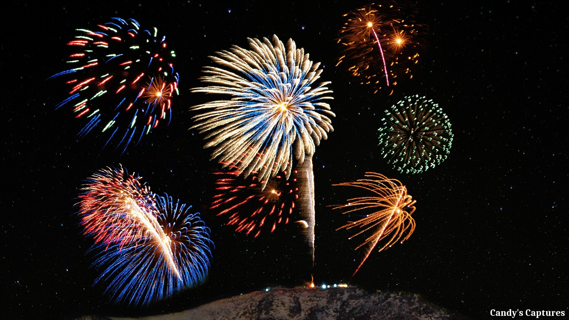 New Years Eve Fireworks on Pikes Peak from Candy's Captures.jpg