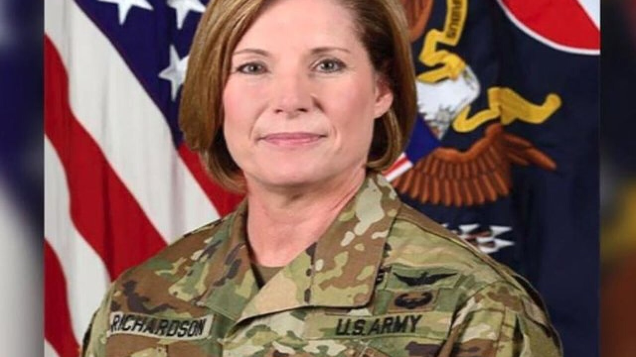 For the first time, a woman is leading the largest command in the US Army